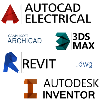 3D models for Autodesk REVIT, database for CAD systems, libraries for ArchiCAD, STEP models, DWG Blocks